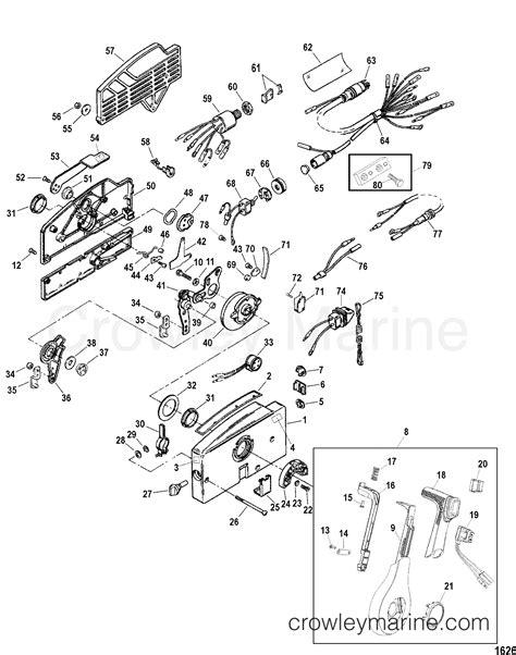 mercury outboard controls diagram remote components 2004 quicksilver