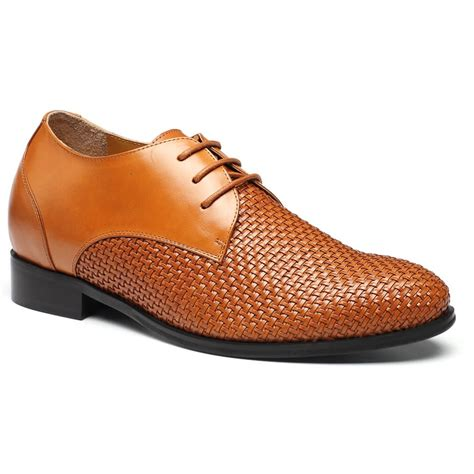 taller shoes custom taller shoes woven leather height increasing