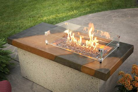 Firepit Burners Outdoor Greatroom Artisan Gas Pit Table With Stainless Steel Burner New Ebay