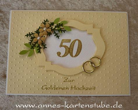 Goldene Hochzeit Karte by Annes Kartenstube Karte Zur Goldenen Hochzeit