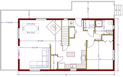 House Plans With Basement 24 X 44 | house plans with basement 24 x 44 best free home