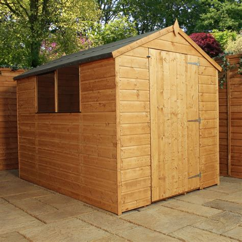 8 x 6 tongue and groove apex shed with large door solid