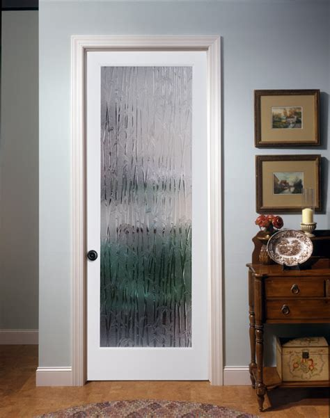 Bamboo Decorative Glass Interior Door Family Room Interior Doors With Glass