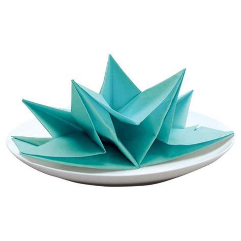 Origami Napkins - origami napkin in aqua craft ideas
