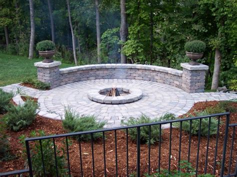 cobblestone pit create your own backyard firepit yard ideas