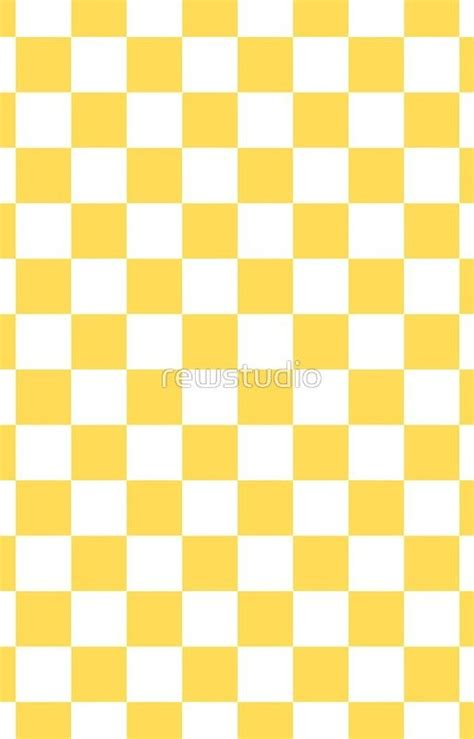mustard yellow  white checkerboard pattern iphone