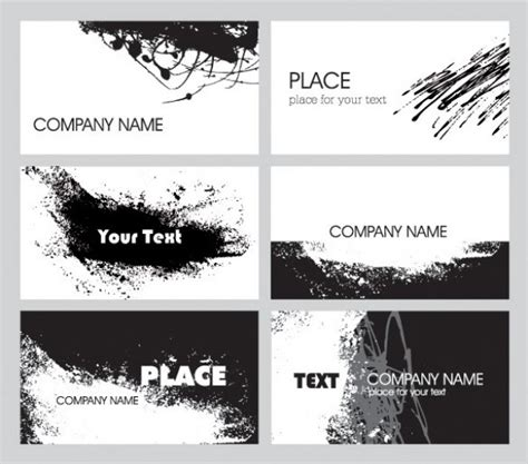 black grunge business card template 6 grunge abstract business card templates welovesolo