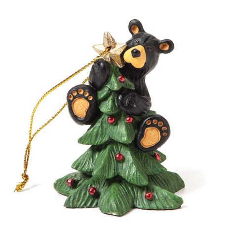 big sky bearfoots celebrate christmas ornaments tree