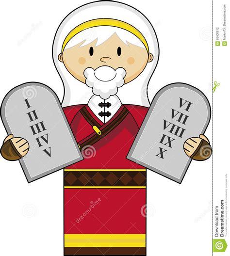 Ten Commandments Of Character moses character stock vector illustration of