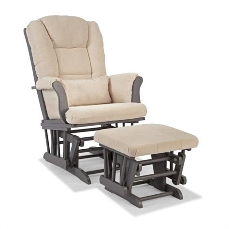 living room glider custom glider and ottoman in gray and beige 06554 51g