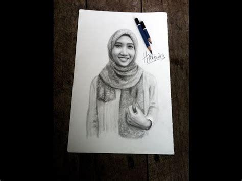 tutorial menggambar wanita berhijab full download how to draw hijab girls cara menggambar