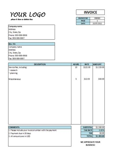 free online invoicing system