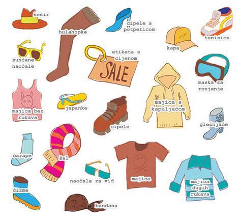 basic croatian vocabulary clothes
