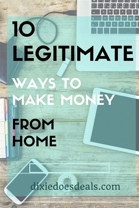 10 legitimate ways to make money from home