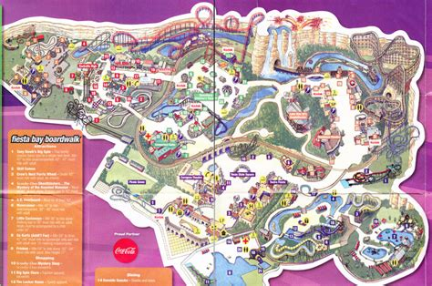 six flags texas park map six flags texas 2008 park map