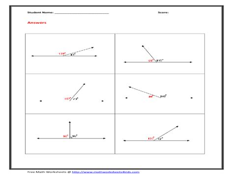 geometry worksheets angles worksheets for practice and study angle pairs worksheet worksheets releaseboard free