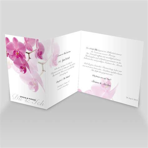 hochzeitseinladung pinke orchidee - Hochzeitseinladung Orchidee