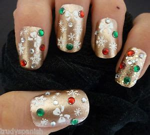 y8 nail painting snow white snowflakes bows design 3d nail