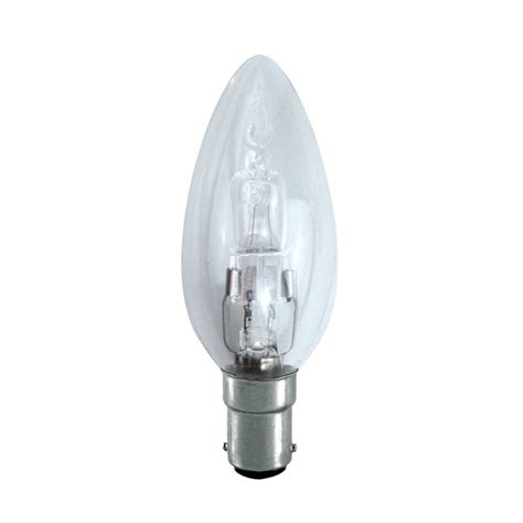 Candle Light Bulbs by Dimmable Energy Saving Halogen Candle Bulb 28w Sbc B15d
