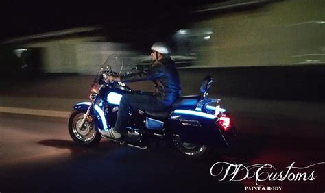 light up motorcycle paint td customs lumilor lab
