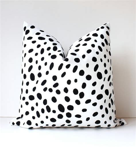 Black White Pillow by Spotted Black White Decorative Designer Pillow Cover Accent