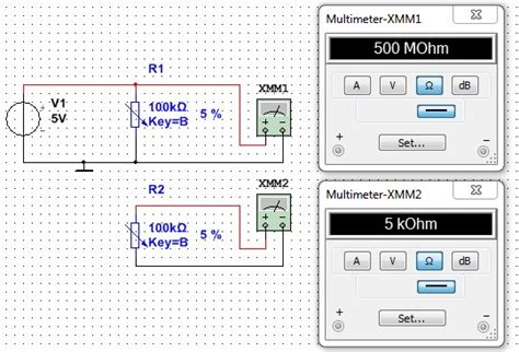how to measure resistance with multisim multimeter problem gt values way discussion forums national instruments