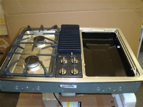 ge gas cooktop with downdraft ge profile 30 inch gas downdraft cooktop pgp990senss ebay