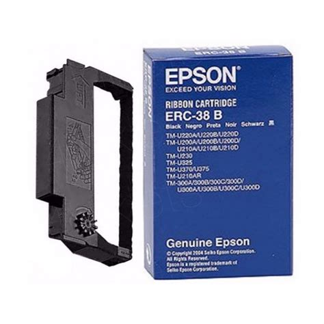 Ribbon Cartridge Pita Epson Erc 38b original epson erc 38b black ribbon cartridge 4inkjets