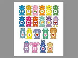 care bears original cousins pixel character cross