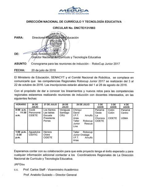 circular meduca invitacion regionales 2017