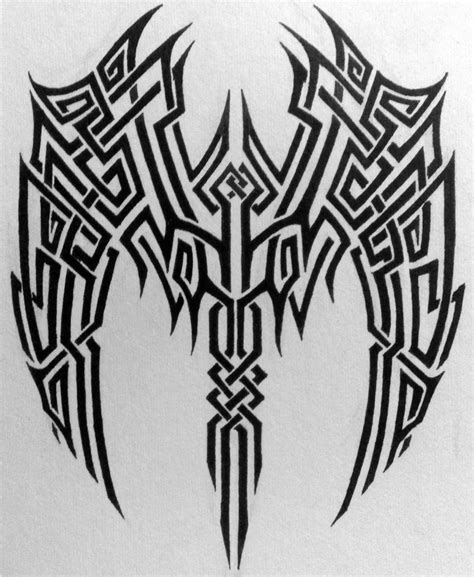 wing tribal tattoo wings images designs