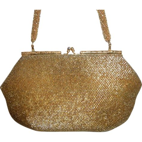 vintage gold beaded handbag purse clutch from historique