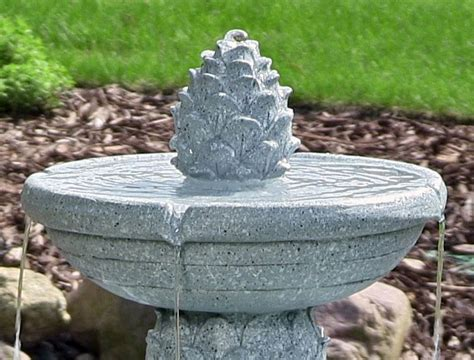 solar fountains with lights pineapple 2 tier solar on demand with led lights