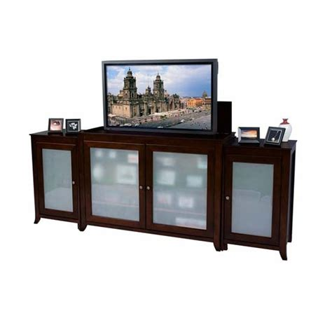 touchstone tuscany tv lift cabinet with side cabinets for