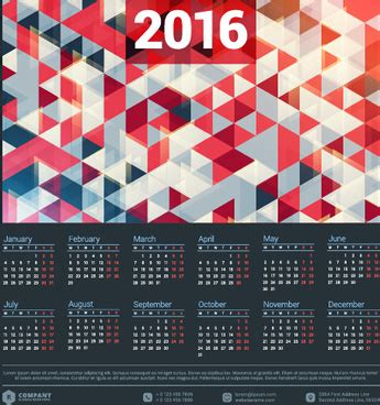 graphic design calendar 2016 2016 free vector download 242 free vector for commercial