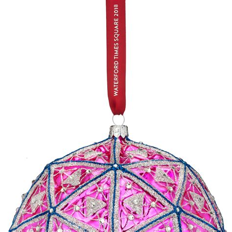 new year 2018 ornaments waterford times square masterpiece ornament