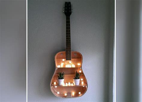 guitar home decor 14 ways to use an old guitar to spice up your home d 233 cor