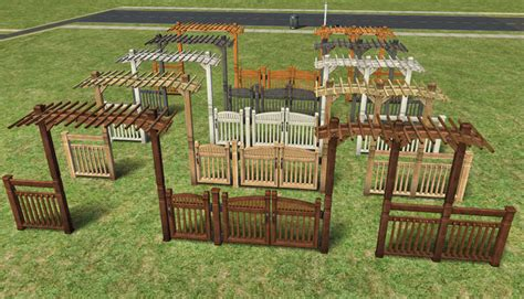 Best Trellis Mod The Sims Fence Arches And Fences Maxis Matching