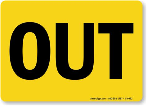 And Out by In And Out Signs From Mydoorsign