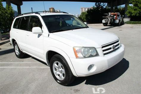 Toyota Car History Check Purchase Used 2002 Toyota Highlander Limited V6 Clean