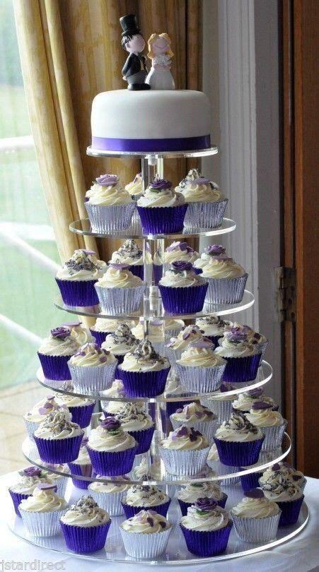 elegant  tiers acrylic wedding cupcake display