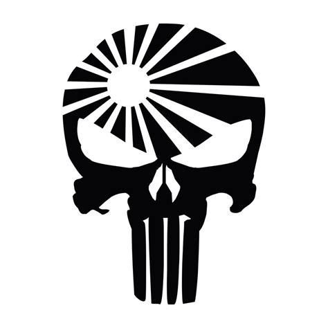 jdm sun punisher skull jdm rising sun vinyl decal sticker ebay