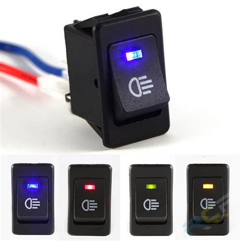 light switch with indicator light 4 pins led on off indicator rocker toggle switch driving