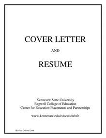 Cover Page And Resume including a cover letter with a resume is a good idea