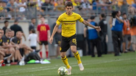 christian pulisic goal union berlin christian pulisic scores assists earns pk in 3 2