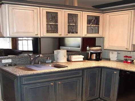 ideas pictures of antiqued kitchen cabinets with grey