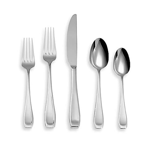 bed bath and beyond flatware oneida 174 lagen 20 piece flatware set bed bath beyond