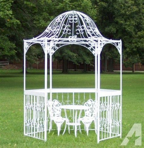 white gazebo for sale improbable white wrought iron gazebo garden landscape
