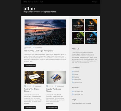 free download premium wordpress themes affair theme by