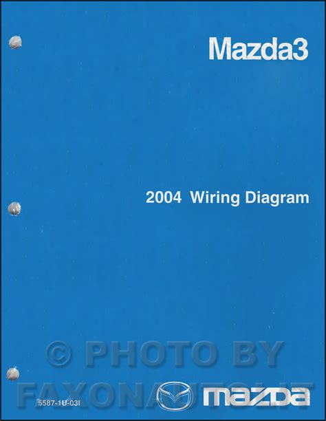 2004 mazda 3 wiring diagram original